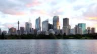Sydney cityscape dusk timelapse video