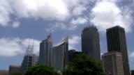 Sydney downtown skyline video