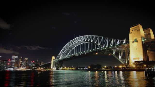 Sydney Habour Bridge at Night video