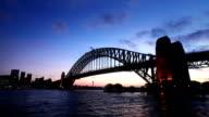 Sydney Habour Bridge Sunset video