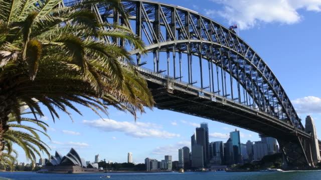 Sydney Harbor Bridge during sunset Australia video