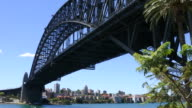 Sydney harbor bridge west side Australia video