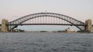 Sydney Harbour Bridge and Opera House 4k video