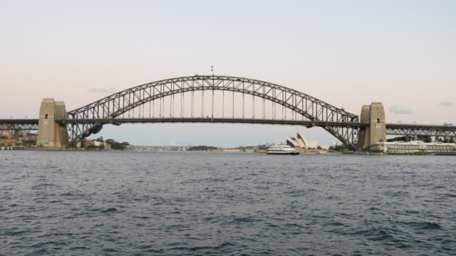 Sydney Harbour Bridge and Opera House 4k video