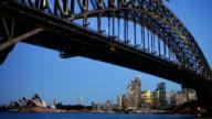 Sydney Harbour Bridge and Opera House Sunset video