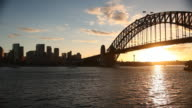 Sydney Harbour Bridge and Skyline video