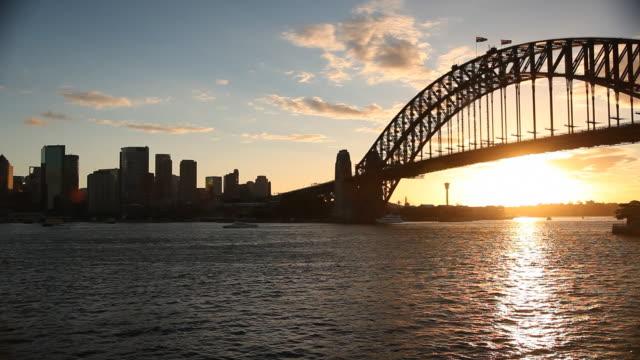 Sydney Harbour Bridge and Skyline video