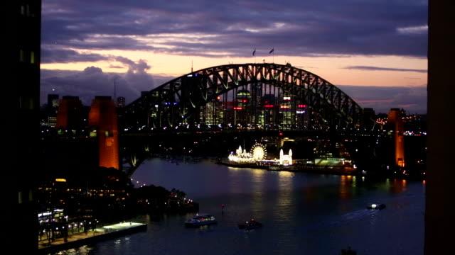 Sydney Harbour Bridge at Sunset video