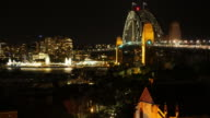 Sydney Harbour Bridge Australia Time Lapse Night 4k video