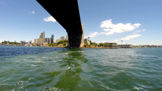 Sydney Harbour Bridge From a Boat on the Water video