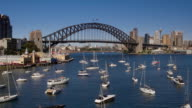 Sydney Harbour Bridge, Luna Park, Sydney, New South Wales, Australia video
