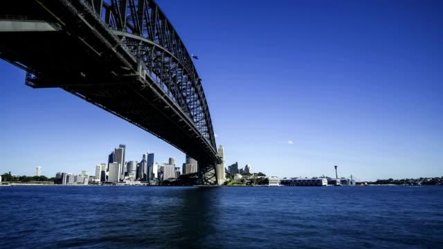 Sydney Harbour bridge motion time lapse video