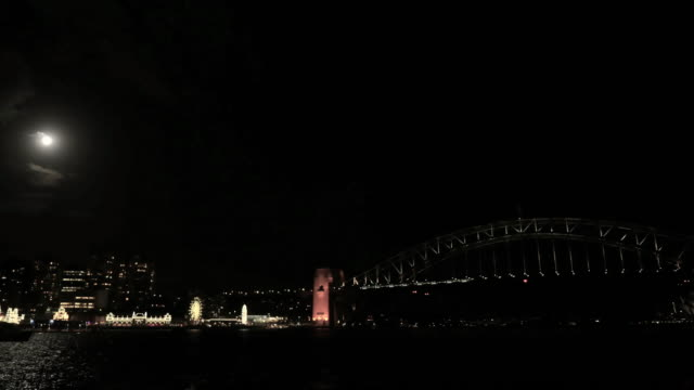 Sydney Harbour Bridge & Opera House supermoon timelapse 4k video