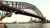 Sydney Harbour Bridge sunset moments video