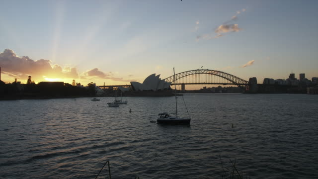 Sydney Harbour day to night HD timelapse. Australia video