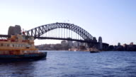 Sydney Harbour Ferry with the Bridge video