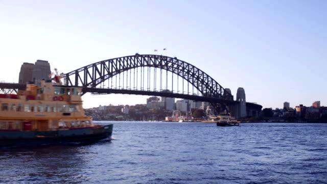 Sydney Harbour Ferry with the Bridge video