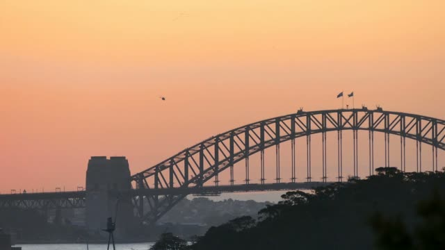 Sydney Harbour on dusk video