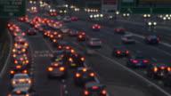 Sydney peak hour traffic sunset 4k video