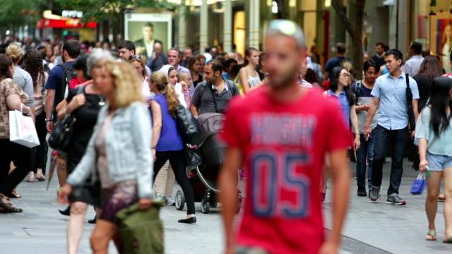 Sydney Shopping Mall Crowds video