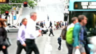 Sydney streets and commuters video