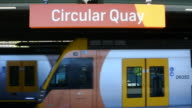 Sydney Trains at Circular Quay Sydney Australia video