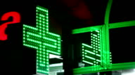 symbol of pharmacy in the night video