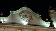 Symbol of St. Lazarus church in Macau at night video