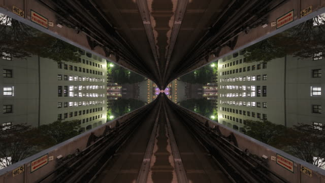 Symmetric & Abstract ride through future city video