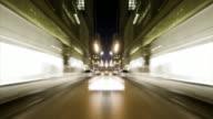 HD 1080 - symmetrical POV driving through city video