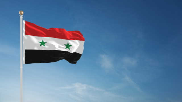 4K Syria Flag - Loopable video