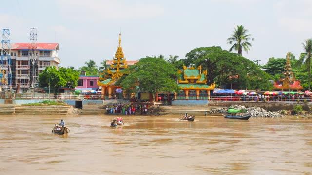 Syriem Yele Pagoda , Island Buddha place in Myanmar. video