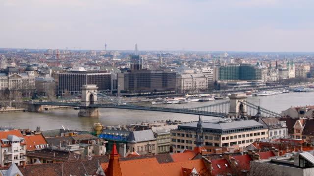 Széchenyi Chain Bridge in Budapest video