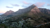 Table Mountain sunset timelapse video