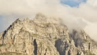 Table Mountain Time Lapse Clouds Pan video