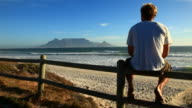 Table mountain view in Cape Town video
