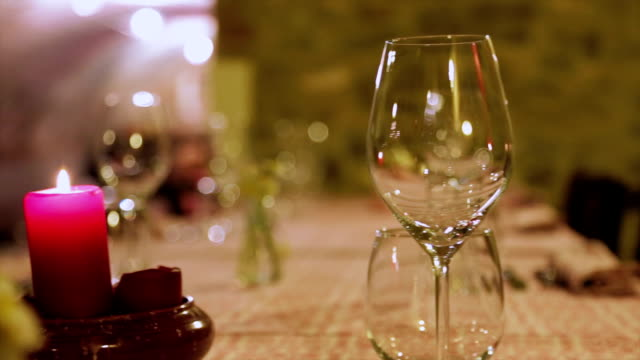 Table set at restaurant video