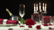 HD: Table Setting For Candlelight Dinning video