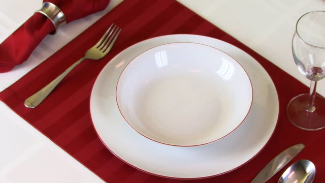 Table Setting Rotating Camera  HD video