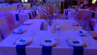 Tables and chairs in restaurant. video