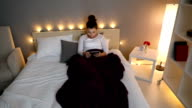 Tablet bed cosy video