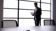 Tablet boardroom window video