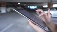 tablet car park video