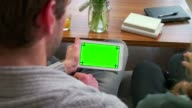 Ipad Tablet Computer Green Screen Monitor For Internet Email Website video
