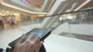 tablet in shopping mall video