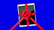 Tablet pc with a red ribbon video