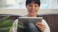 tablet sofa video