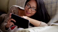 Tablet sofa woman   CM LI video