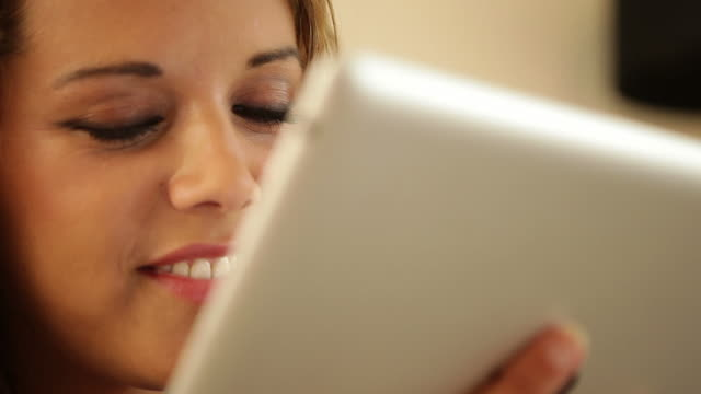 Tablet use close up            CM INF video