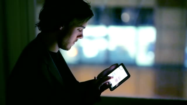 Tablet window night video
